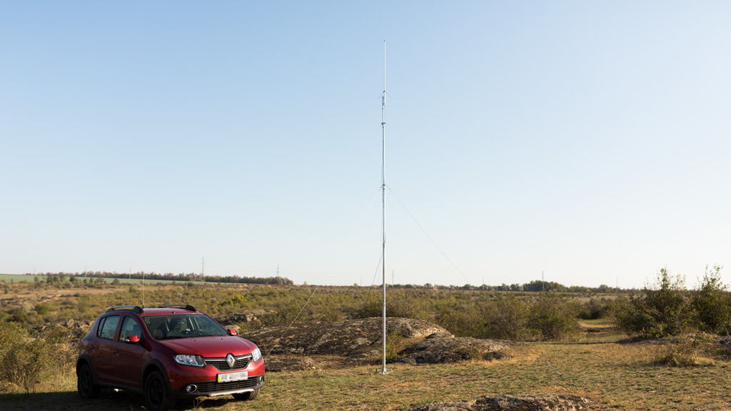 Мачта Шпиль-8К с антенной Storm UV-100