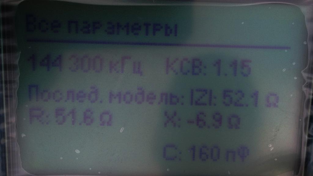 Все параметры на частоте 144.300 МГц