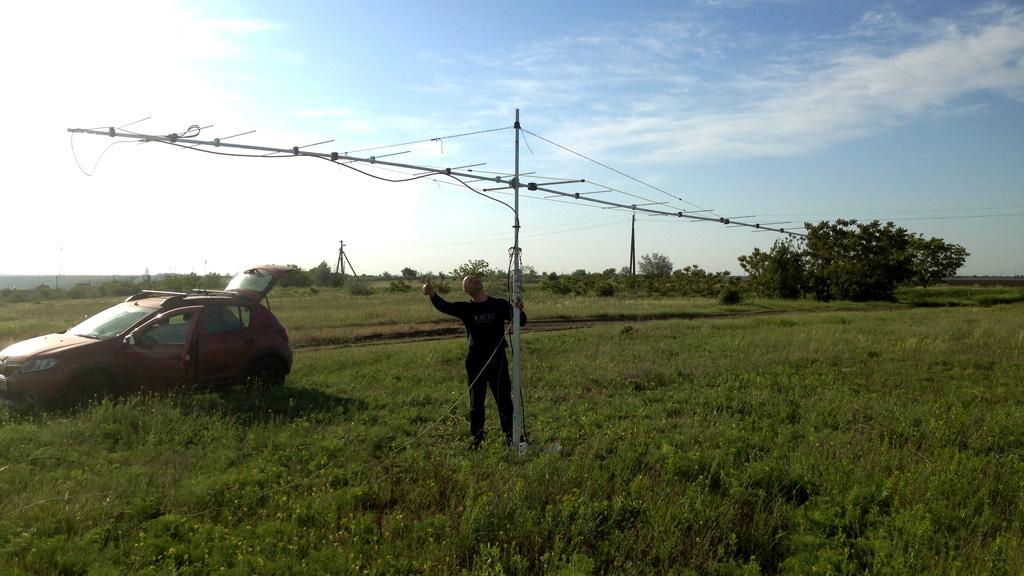 Проверка антенны на минимальной высоте
