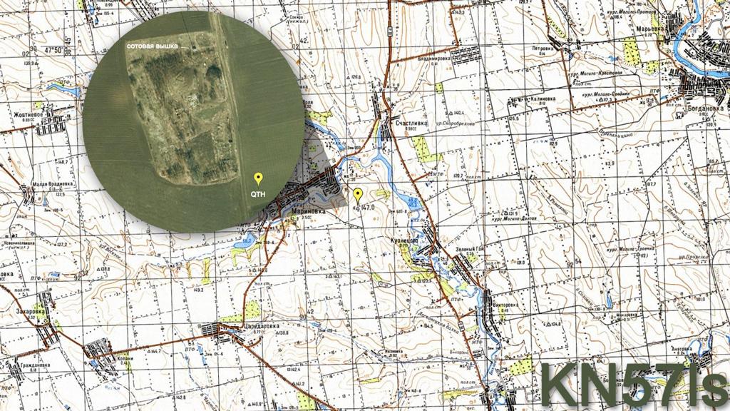 Карта QTH во время мемориала Чалапко